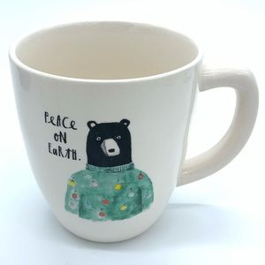 Rae Dunn - PEACE ON EARTH - Mug w/ Bear Image